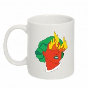 Mug 330ml Girl With Fire