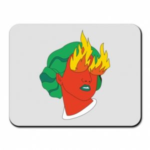 Mouse pad Girl With Fire