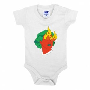 Baby bodysuit Girl With Fire