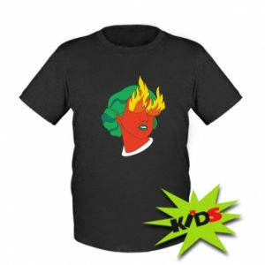 Kids T-shirt Girl With Fire