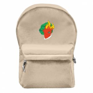 Backpack with front pocket Girl With Fire