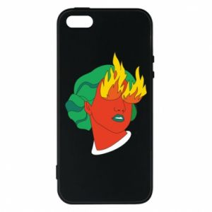 Phone case for iPhone 5/5S/SE Girl With Fire