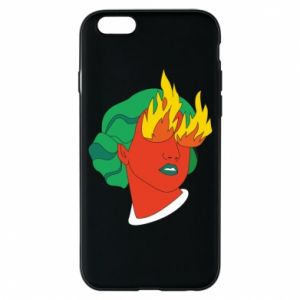 Phone case for iPhone 6/6S Girl With Fire