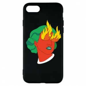 Phone case for iPhone 7 Girl With Fire