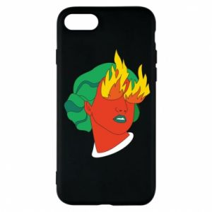 Phone case for iPhone 8 Girl With Fire