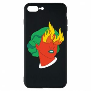 Phone case for iPhone 8 Plus Girl With Fire