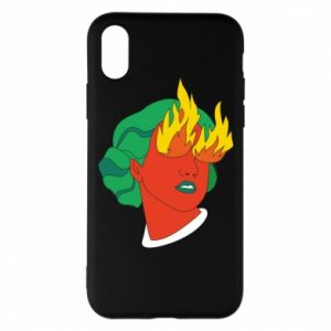 Phone case for iPhone X/Xs Girl With Fire