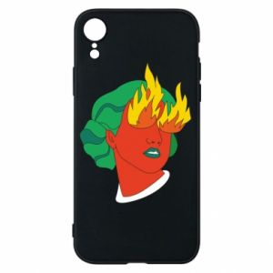 Phone case for iPhone XR Girl With Fire