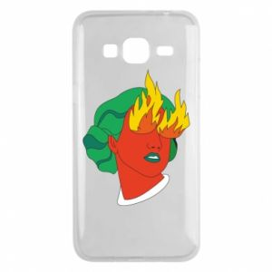 Phone case for Samsung J3 2016 Girl With Fire