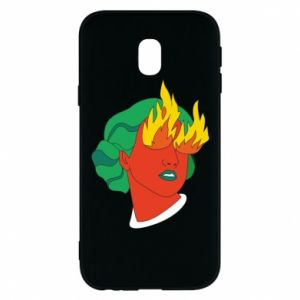 Phone case for Samsung J3 2017 Girl With Fire
