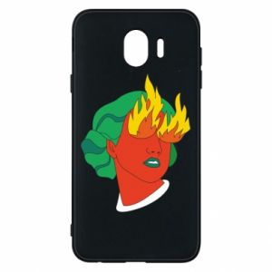 Phone case for Samsung J4 Girl With Fire