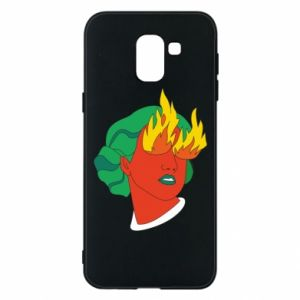 Phone case for Samsung J6 Girl With Fire