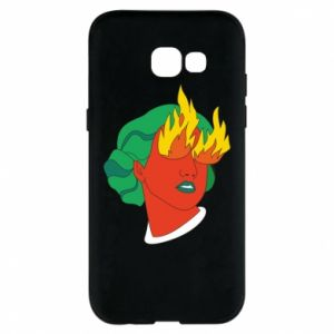 Phone case for Samsung A5 2017 Girl With Fire