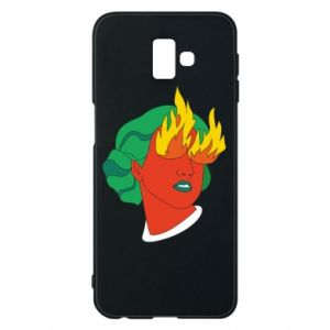 Phone case for Samsung J6 Plus 2018 Girl With Fire