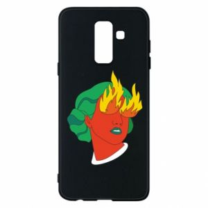 Phone case for Samsung A6+ 2018 Girl With Fire