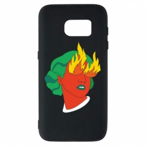 Phone case for Samsung S7 Girl With Fire
