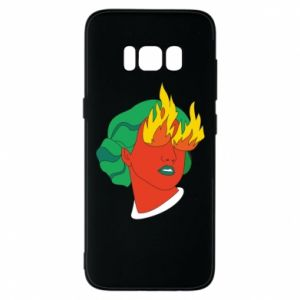 Phone case for Samsung S8 Girl With Fire