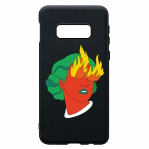 Phone case for Samsung S10e Girl With Fire
