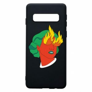 Phone case for Samsung S10 Girl With Fire