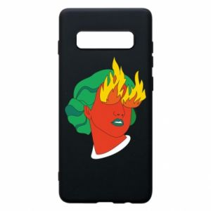 Phone case for Samsung S10+ Girl With Fire