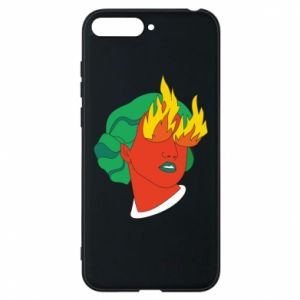 Phone case for Huawei Y6 2018 Girl With Fire