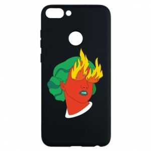 Phone case for Huawei P Smart Girl With Fire