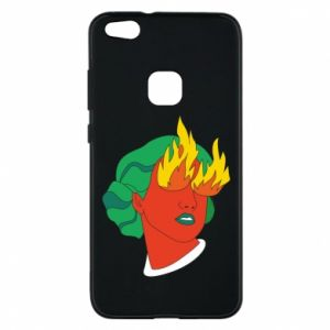 Phone case for Huawei P10 Lite Girl With Fire