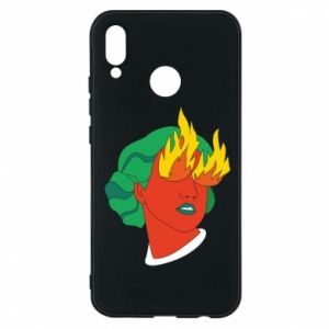 Phone case for Huawei P20 Lite Girl With Fire