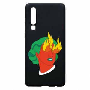 Phone case for Huawei P30 Girl With Fire