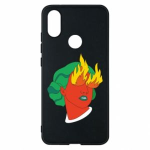 Phone case for Xiaomi Mi A2 Girl With Fire