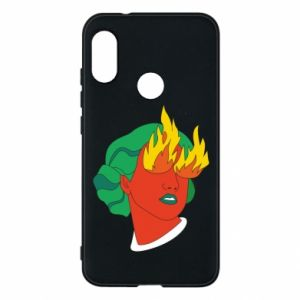 Phone case for Mi A2 Lite Girl With Fire