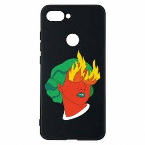 Phone case for Xiaomi Mi8 Lite Girl With Fire