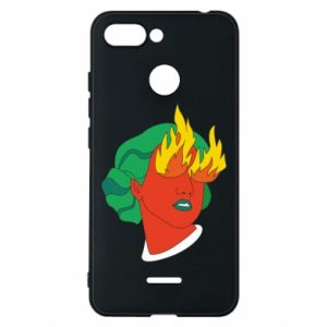 Phone case for Xiaomi Redmi 6 Girl With Fire