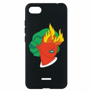 Phone case for Xiaomi Redmi 6A Girl With Fire