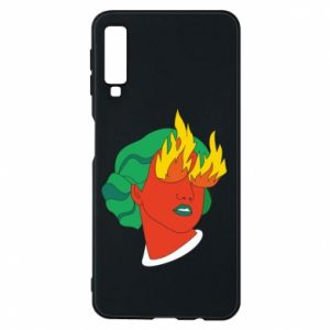 Phone case for Samsung A7 2018 Girl With Fire
