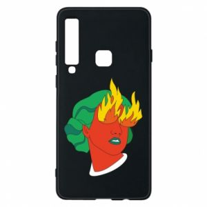 Phone case for Samsung A9 2018 Girl With Fire