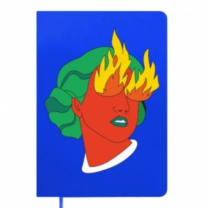 Notepad Girl With Fire