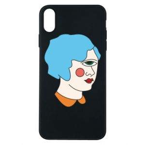 Phone case for iPhone Xs Max Girl with one eye - PrintSalon