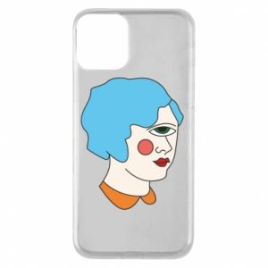 Phone case for iPhone 11 Girl with one eye - PrintSalon
