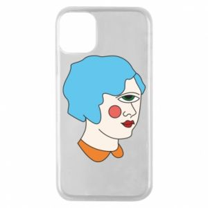 Phone case for iPhone 11 Pro Girl with one eye - PrintSalon