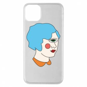 Phone case for iPhone 11 Pro Max Girl with one eye - PrintSalon