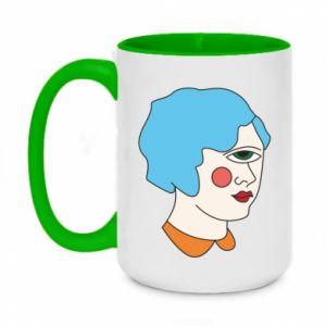 Two-toned mug 450ml Girl with one eye