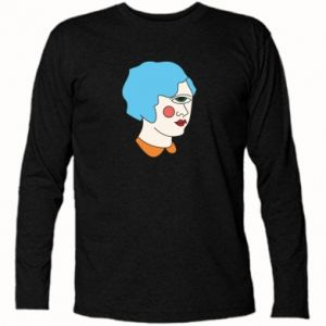 Long Sleeve T-shirt Girl with one eye - PrintSalon