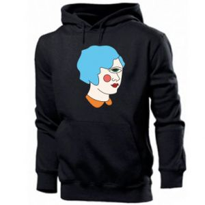 Men's hoodie Girl with one eye - PrintSalon