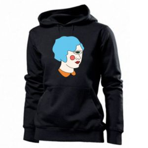 Women's hoodies Girl with one eye - PrintSalon