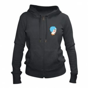 Women's zip up hoodies Girl with one eye - PrintSalon