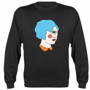 Sweatshirt Girl with one eye - PrintSalon