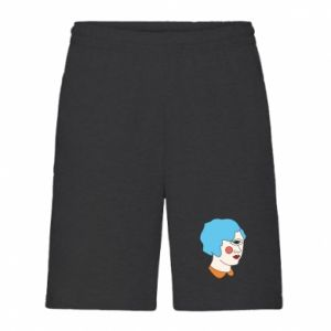 Men's shorts Girl with one eye - PrintSalon