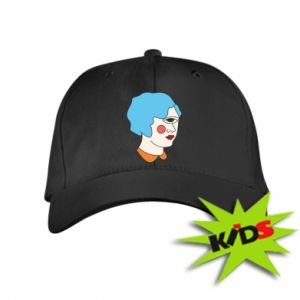 Kids' cap Girl with one eye - PrintSalon