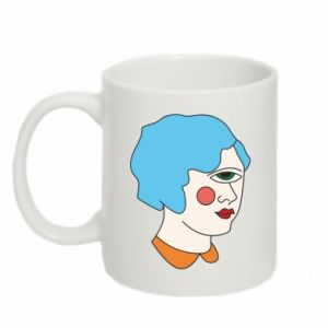 Mug 330ml Girl with one eye - PrintSalon